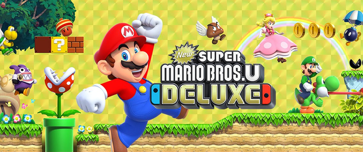 New Super Mario Bros. U is getting the deluxe treatment with 4 player gameplay on Nintendo Switch along with other new titles on Switch, PS4 and Xbox One