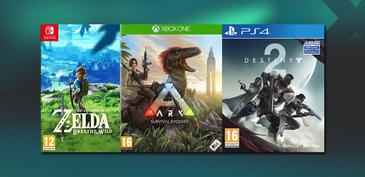 Get up to £34 CASH or £38 in Trade-In for Destiny 2, Splatoon, F1 2017 and others on PlayStation 4, Xbox One and Switch