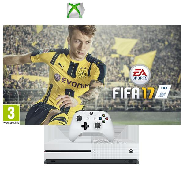 Xbox One S 500GB FIFA 17 Console Bundle | The Gamesmen