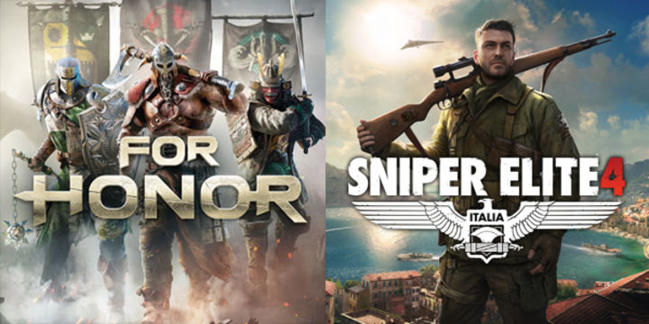Become a hero through melee combat in For Honor, or defeat from distance in Sniper Elite 4. Both on PS4 and Xbox One this week.