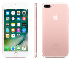 Apple iPhone 7 PLUS 128GB Rose Gold - Locked to Network