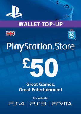 Playstation Network Top Up - £50 (Digital Product)