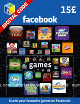 Facebook Game Card - £15 (Digital Product)