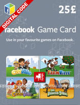 Facebook Game Card - £25 (Digital Product)