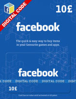 Facebook Gift Card - £10 (Digital Product)