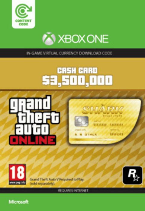 Grand theft auto online gta whale shark card xbox one digital