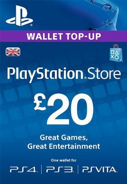 Playstation Network Top Up PS3/4/Vita £20 (Digital Product)
