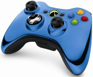 Wireless Controller - Chrome Blue (Xbox 360)