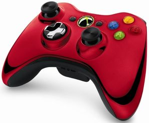 Wireless Controller - Chrome Red (Xbox 360)