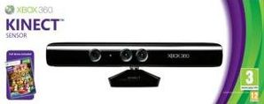 Kinect Sensor with Power Supply & Kinect Adventures Xbox 360