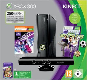 Xbox 360 250GB Console with Kinect Sensor & Kinect Sports