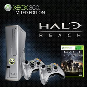 Xbox 360 4GB Limited Edition Halo Reach Console with 2 pads