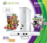 Xbox 360 Console (4GB HD) with Kinect Sensor (White)