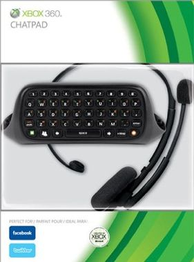 Xbox 360 Chat Pad/Messenger Kit Inc Wired Headset - BLACK