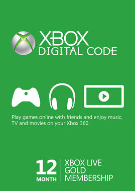 Xbox Live (Digital Product Only) - 12 Month Gold Membership