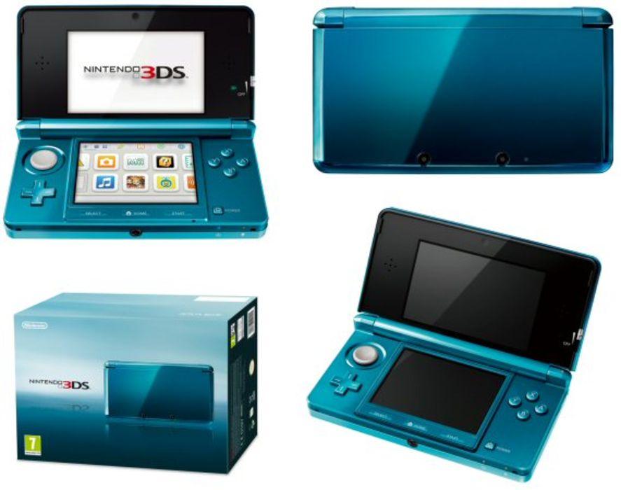 Nintendo 3ds handheld console aqua blue - Nintendo 3ds handheld console ...