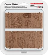 New Nintendo 3DS Coverplate - Mario (Wood)