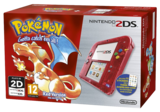 Nintendo 2DS Transparent Red + Pokemon Red
