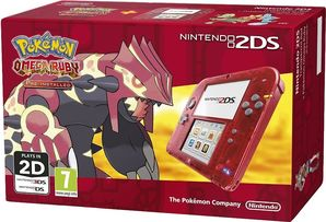 Nintendo 2DS Transparent Red with Pokémon Omega Ruby