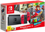 Nintendo Switch - Red with Super Mario Odyssey (DL Code)
