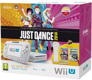 Nintendo Wii U White 8G Just Dance 2014 Bundle