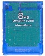 Official Sony PS2 Memory Card 8mb - Clear Blue