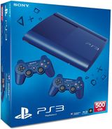 PlayStation 3 500GB Super Slim - Azurite Blue With 2 Pads