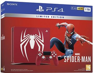 Playstation 4 Slim Console 1TB Red Spiderman Limited Edition
