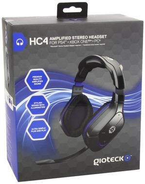 Geoteck HC-4 Wired Stereo Headset (PS4/Sony PSP/PC/Wii/DS)