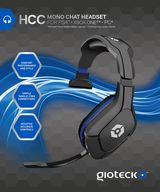 Gioteck HCC Wired Mono Chat Headset for PS4 and PC
