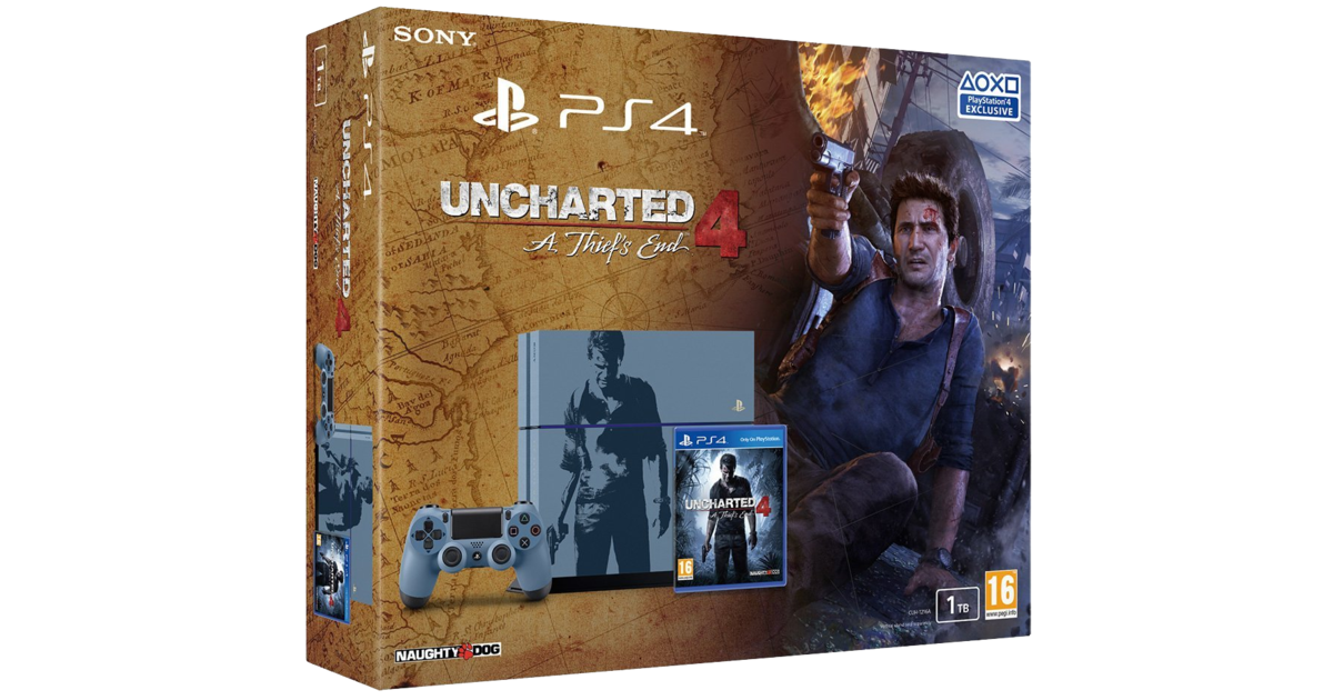 sony playstation 4 1tb uncharted 4 a thief 39 s end special ed. Black Bedroom Furniture Sets. Home Design Ideas
