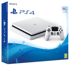 Sony Playstation 4 New Look Slim White Console - 500GB
