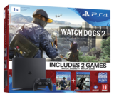 Sony Playstation 4 Slim Console - 1TB Watch Dogs 2 Bundle