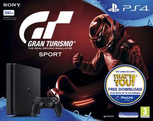Sony Playstation 4 Slim Console - 500GB GT Sport Bundle