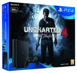 Sony Playstation 4 Slim Console - 500GB Uncharted 4 Bundle