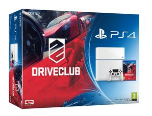 Sony PlayStation 4 (White) - Driveclub Bundle