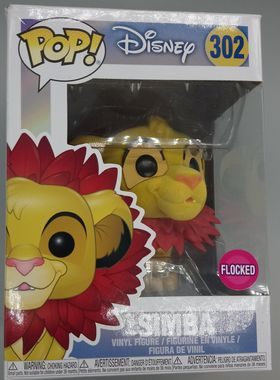 #302 Simba (Leaf Mane) - Flocked - Disney Lion King