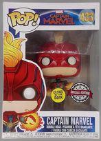 #433 Captain Marvel (Flying) Glow Pop - BOX DAMAGE