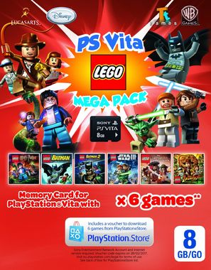 Lego Mega Pack with 8GB Memory Card (Playstation Vita)