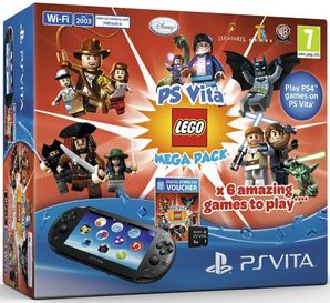 Playstation Vita Console and Lego Mega Pack Bundle with 8GB