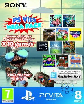 Sony PS Vita 10 game Mega Pack (8GB Memory Card)