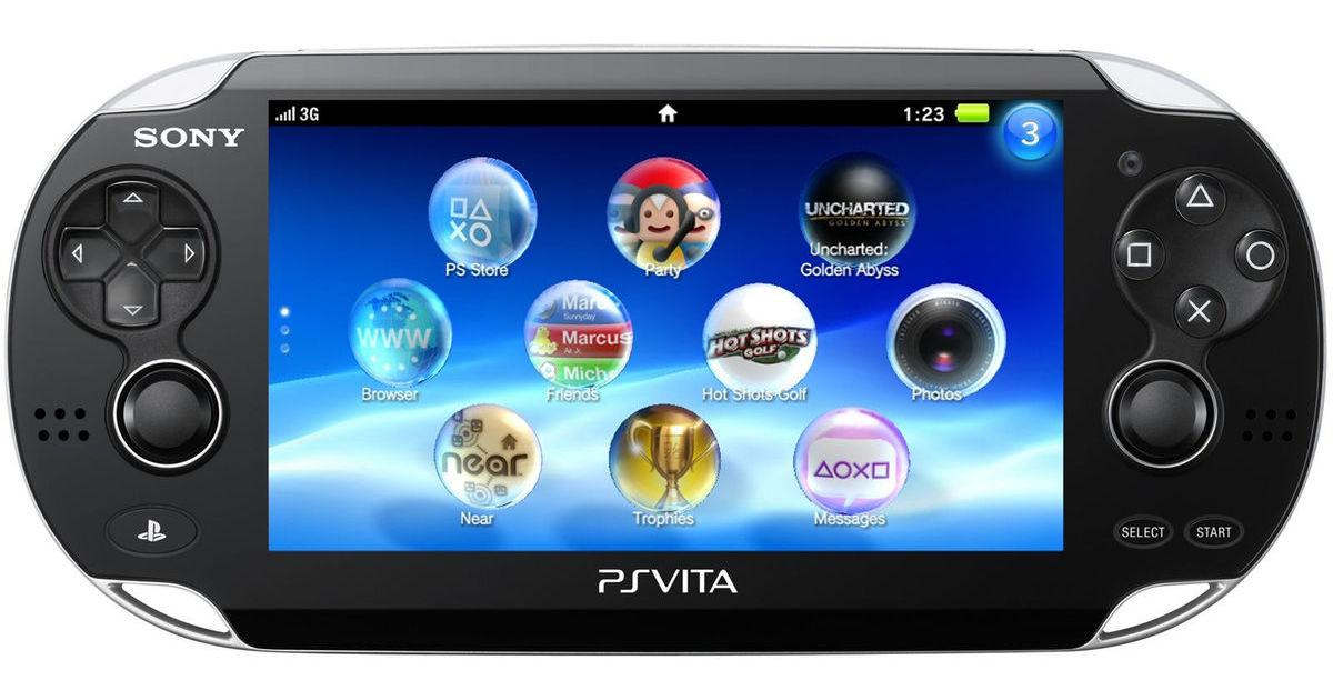 Sony PS VITA Console 3G/Vodafone SIM Card - Black