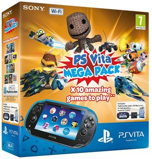 Sony PS Vita WiFi Console + 10 game Mega Pack (8GB Mem Card)