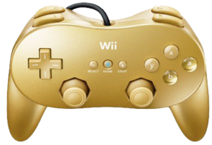Wii Classic Controller Pro - Gold