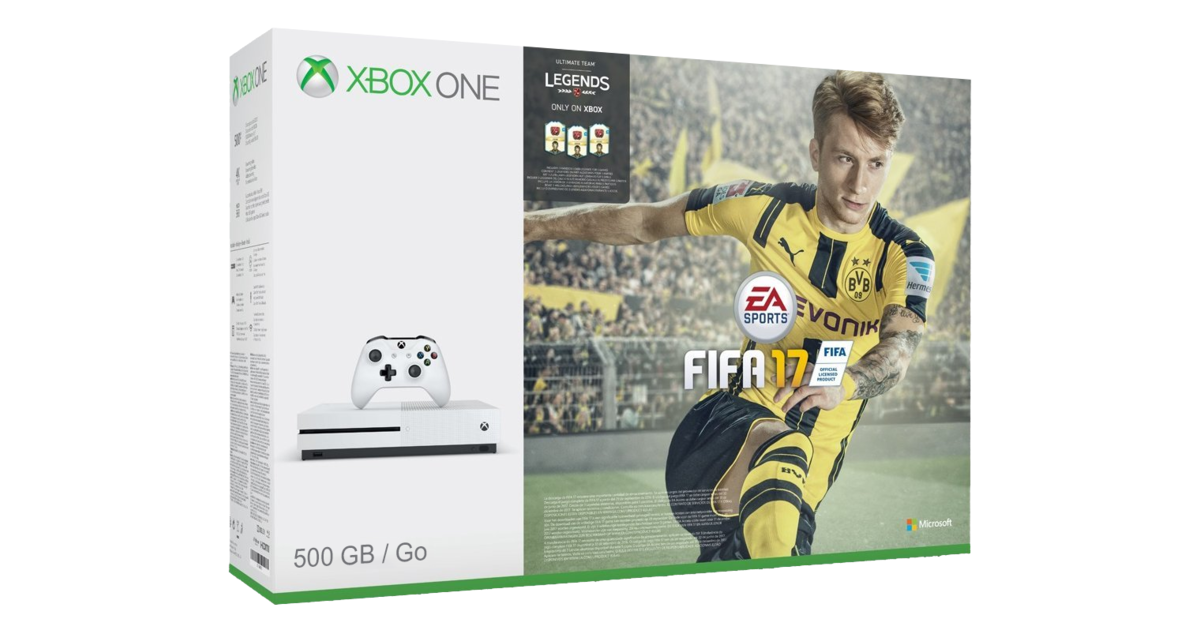 xbox one s console white fifa 17 bundle 500gb. Black Bedroom Furniture Sets. Home Design Ideas