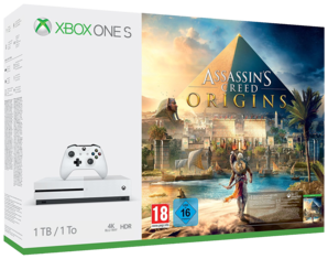 Xbox One S Console White with Assassins Creed Origins 1TB