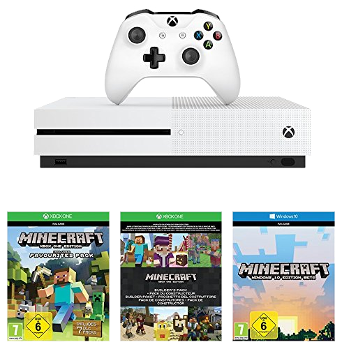 Xbox One S White Console Minecraft Complete Bundle 500GB Cont